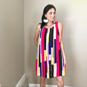 1. state Colorblock Bold Sleeveless Shift Dress